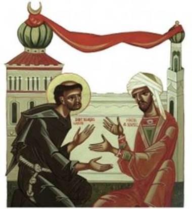 Ikone_Franziskus_und_Sultan_Kamil