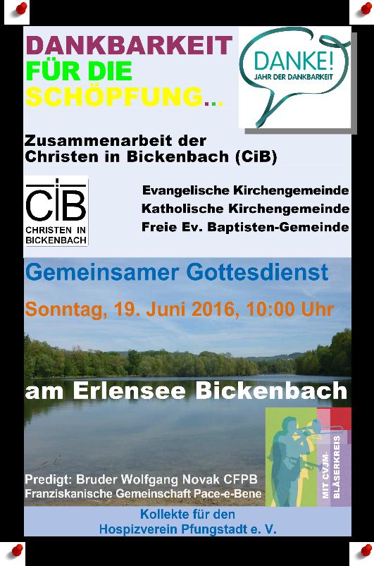 2016-06-19 Gemeinsamer Gottesdienst am Erlensee