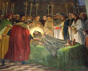 Franziskus auf dem Sterbebett